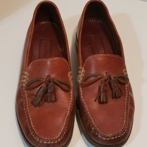 Cole Haan Tasseled Brown Leather Loafers